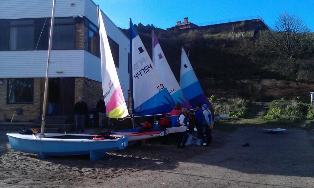 Friday night junior and cadets at Tynemouth Sailing Club