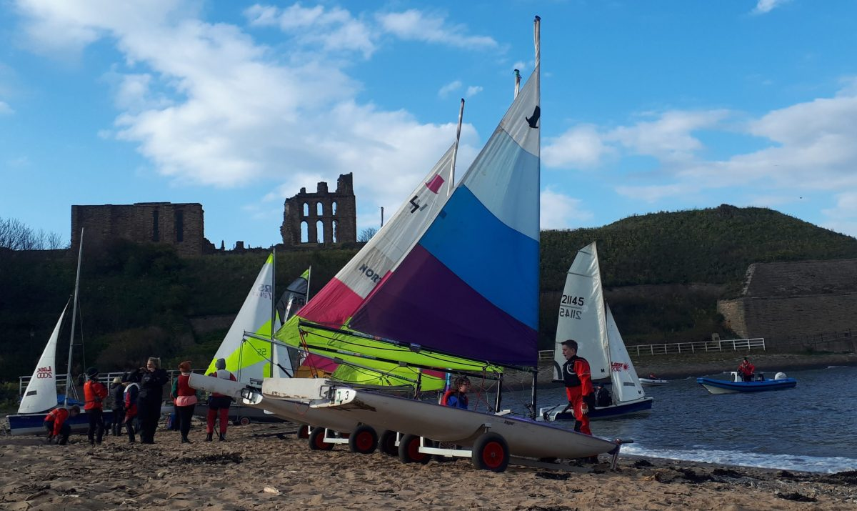youth sailing at Tynemouth Sailing Club from the Haven